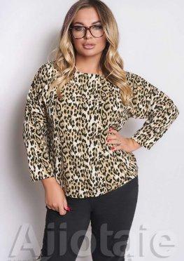 Костюм 3в1 с блузкой в леопардовый принт