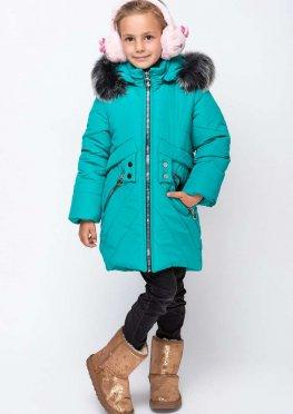 Зимнее пальто для девочек алмаз-2