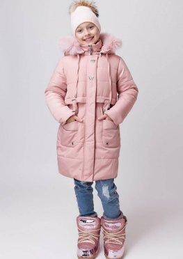 Зимнее пальто для девочки Барби