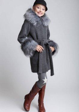 """Пальто для девочки """"Чернобурка"""""""