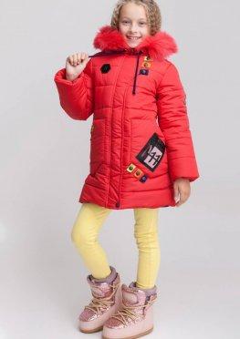 Пальто для девочки Радуга