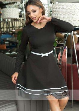 Коктейльное платье с рюшами