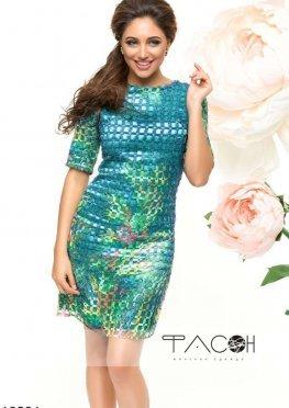 Коктейльное платье с сеткой