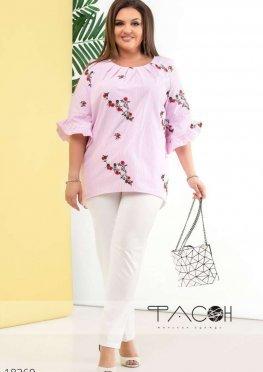 Рубашка с цветочной вышивкой
