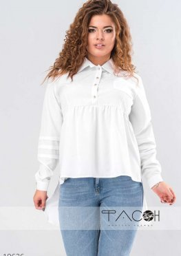 Асимметричная блузка на пуговицах