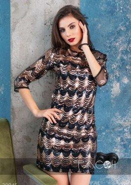 Платье мини с пайетками