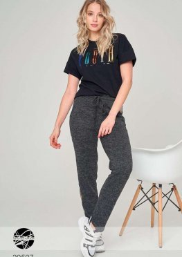 Трикотажные брюки с пайетками