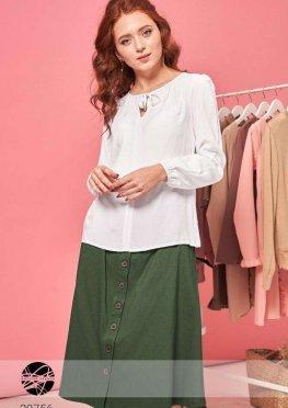 Блуза с вырезом капелькой и завязками