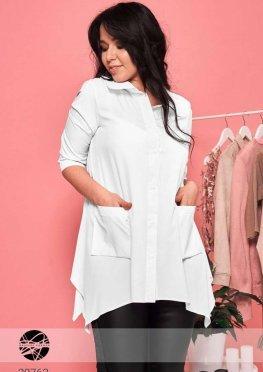 Блуза с асимметричным краем