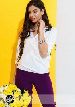 Блуза с перекрестным дизайном