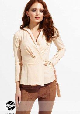 Блуза на запах с завязкой