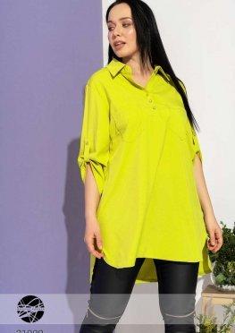 Асимметричная блуза с боковыми разрезами
