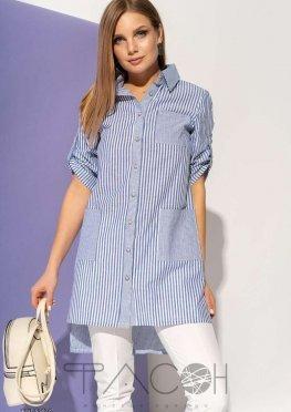 Асимметричная рубашка с карманами