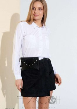 Замшевая юбка-шорты