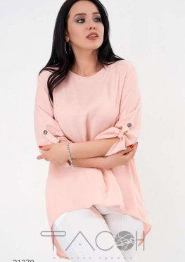 Льняная блуза с планкой из пуговиц на спине