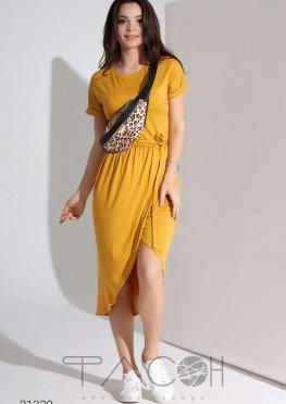 Платье миди с дизайном на запах