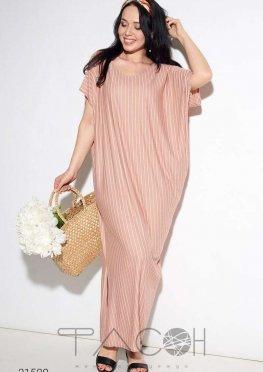Свободное платье макси с принтом в полоску