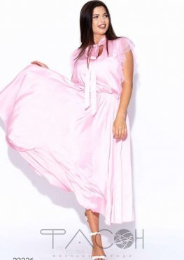 Шёлковое платье миди с завязкой на шее