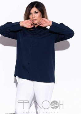 Свободная рубашка с длинными рукавами