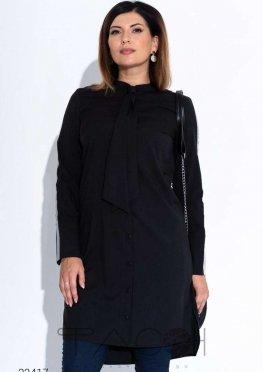 Платье-туника с завязкой на шее
