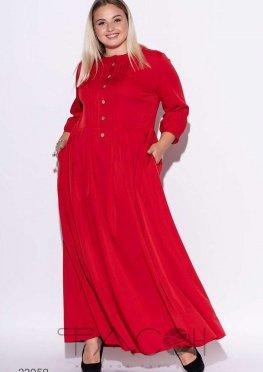 Платье макси с плиссированной юбкой