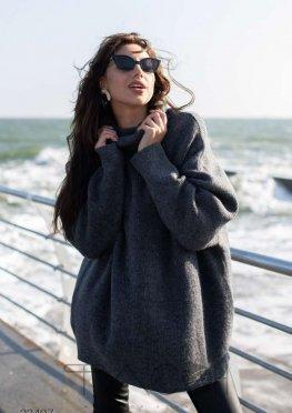 Oversize-свитер с высоким воротом