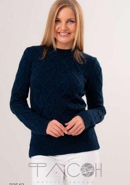Вязаный свитер с воротом-стойкой