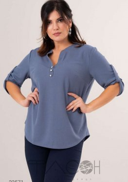 Рубашка с декоративной планкой из пуговиц