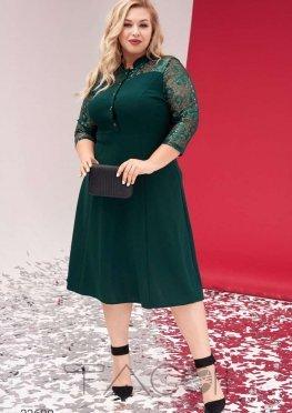 Платье-рубашка с отделкой пайетками