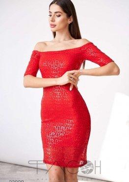 Платье мини с отделкой пайетками
