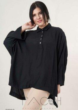 Oversize-рубашка с асимметричным нижним краем