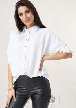 Рубашка с рукавами летучая мышь