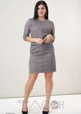 Платье из замша с принтом