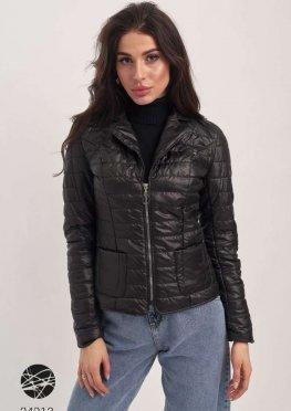 Стёганая куртка с накладными карманами