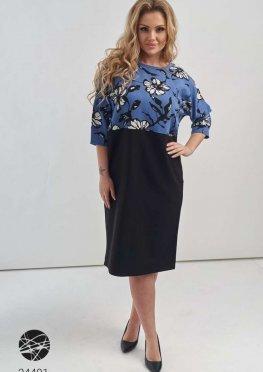Свободное платье с контрастным топом