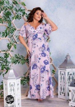 Платье с крупными розами