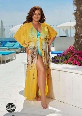 Пляжная накидка с рукавами кимоно