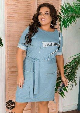 Платье-футболка с накладными карманами