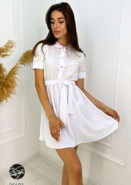 Платье с отделкой кроше
