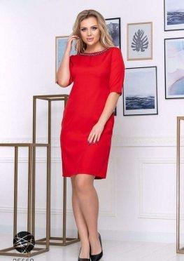 Платье-футляр с отделкой