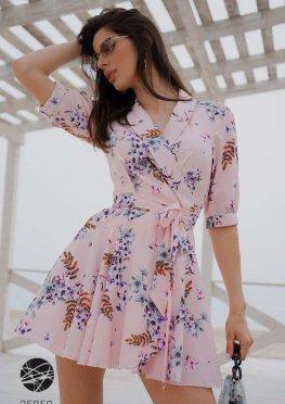 Платье мини с запахом