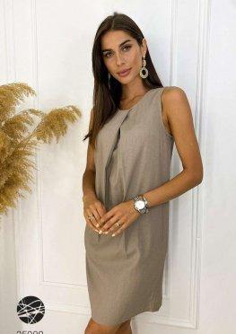 Льняное платье мини