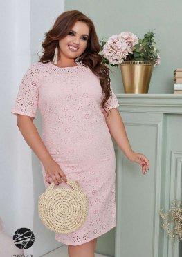 Платье-футляр с отделкой кроше