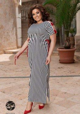 Платье миди с боковыми разрезами