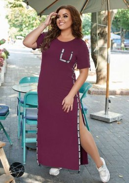 Платье макси с боковыми разрезами
