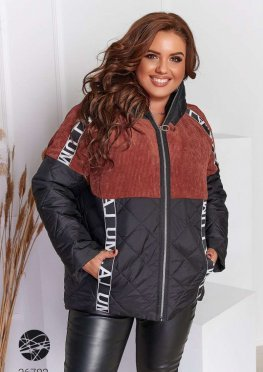 Куртка из комбинированных материалов