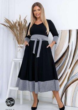Ангорове платье миди