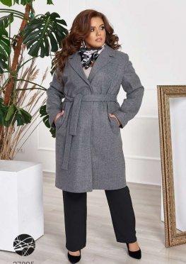 Кашемировое пальто с поясом