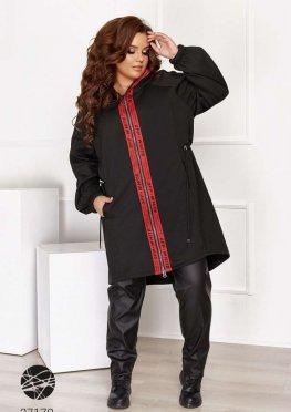 Куртка с асимметричным нижним краем