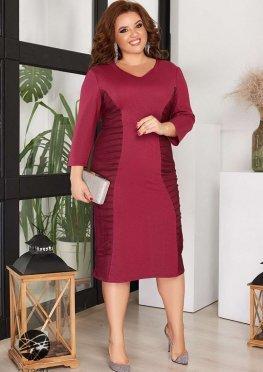 Платье миди с отделкой сеткой